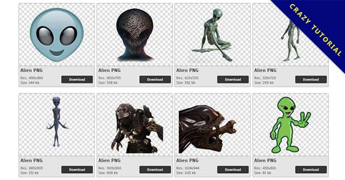 105 Alien PNG images for free download