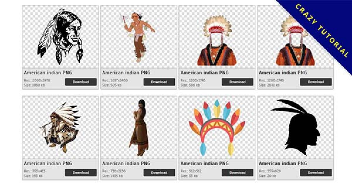 60 American Indian PNG images for free download