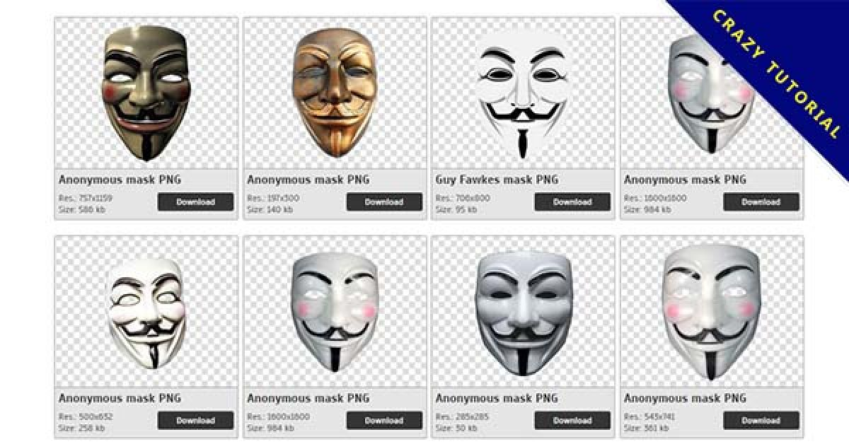 34 Anonymous mask PNG images are free to download
