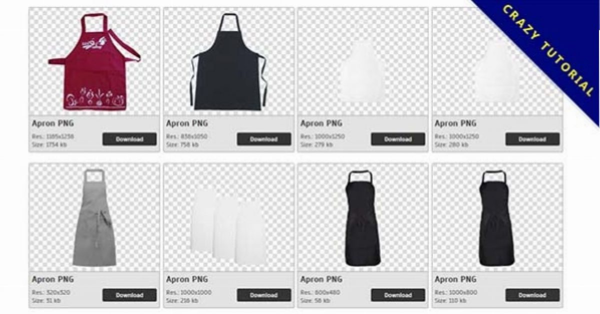 51 Apron PNG images are free to download