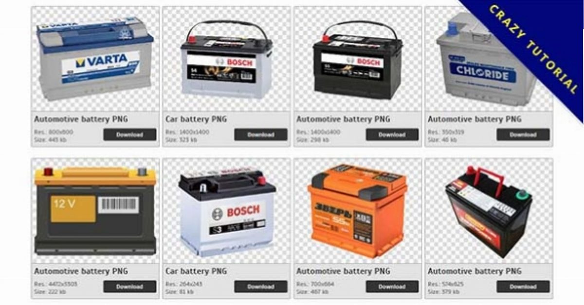 32 Automotive battery PNG images available for free download