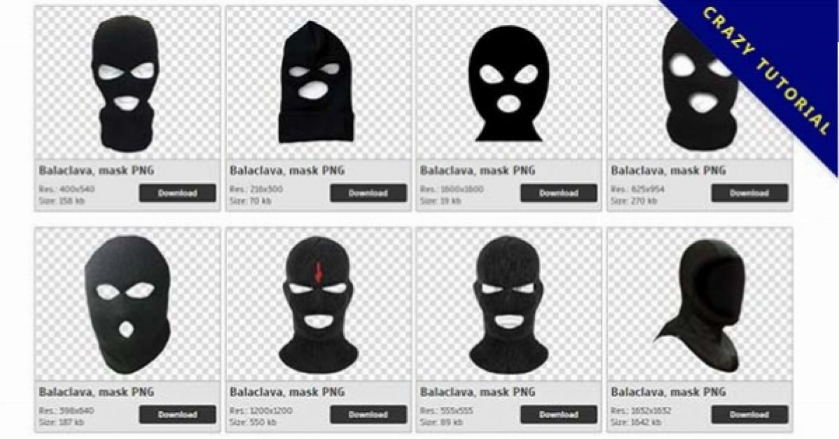 47 Balaclava PNG image collection for free download