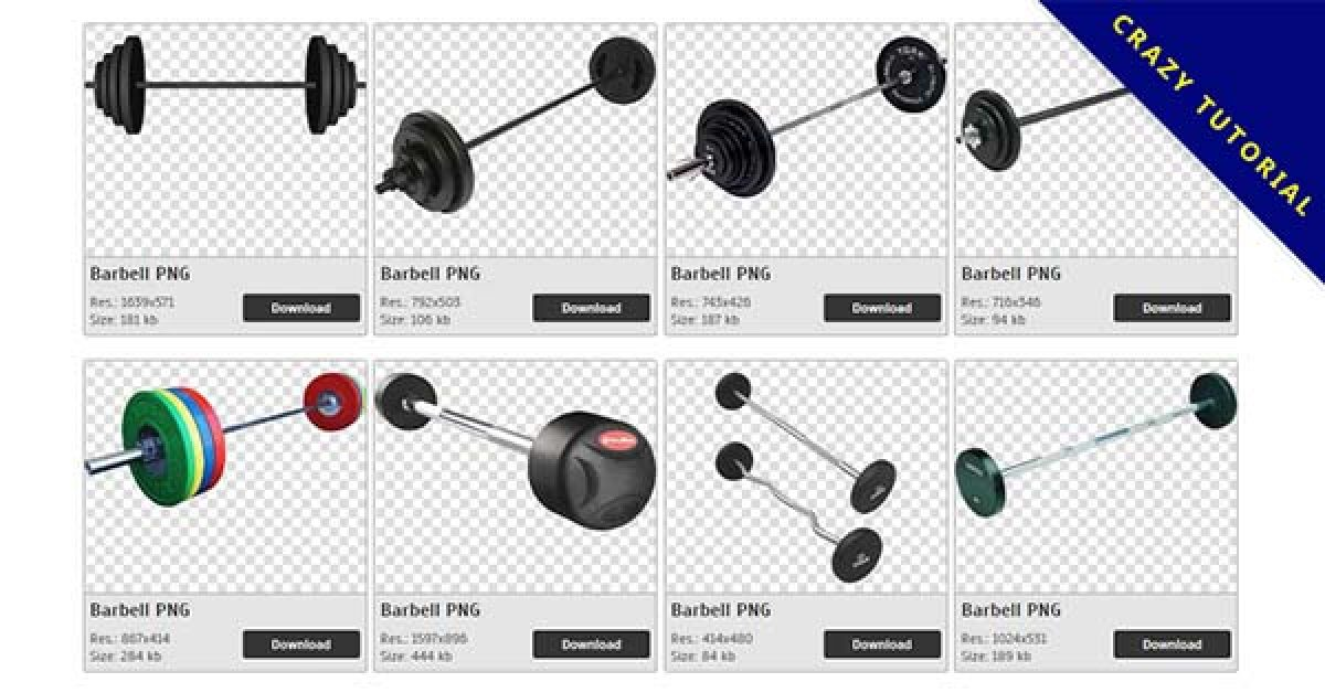 22 Barbell PNG image collection for free download
