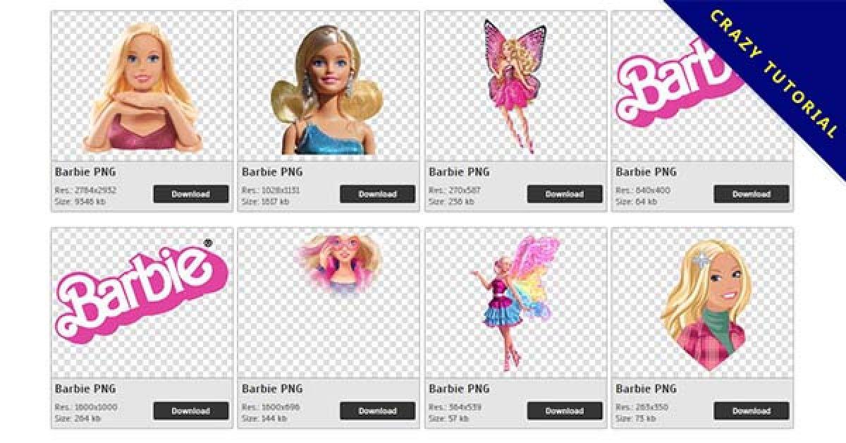 62 Barbie PNG images for free download