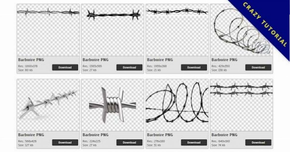 46 Barbwire PNG image collections are available for free download