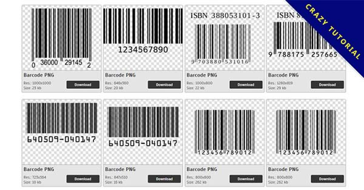 75 Barcode PNG images for free download