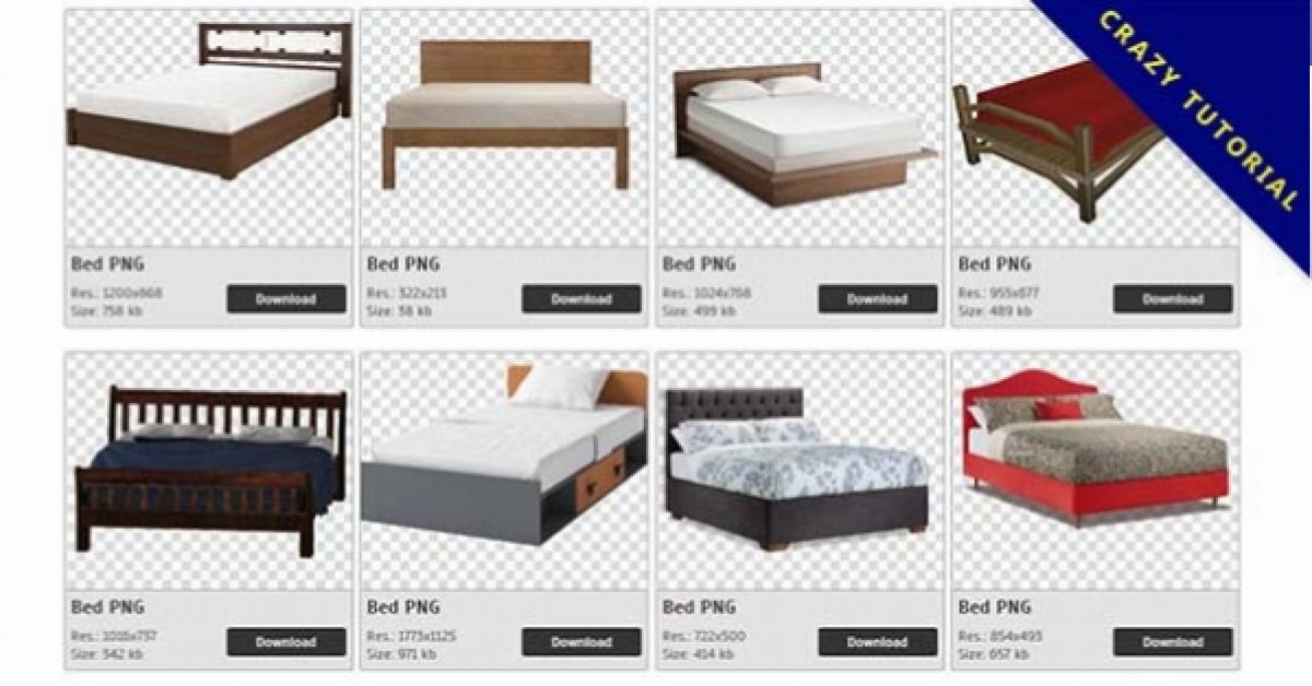 51 Bed PNG images for free download