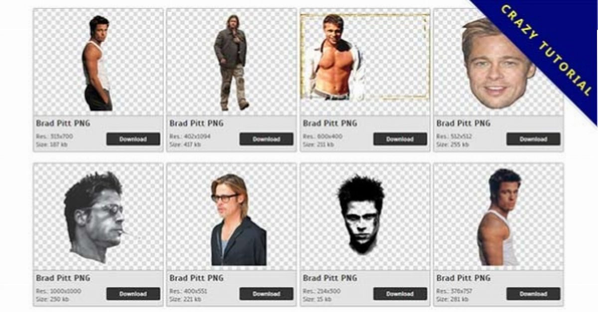 28 Brad Pitt PNG images for free download
