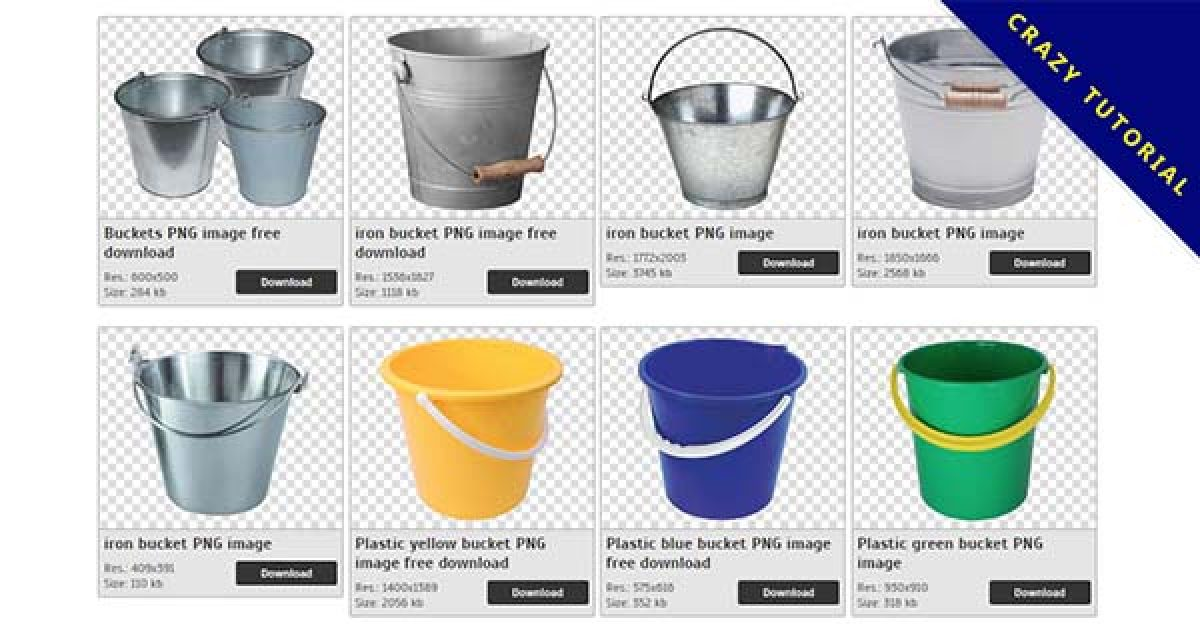 22 Bucket PNG images for free download