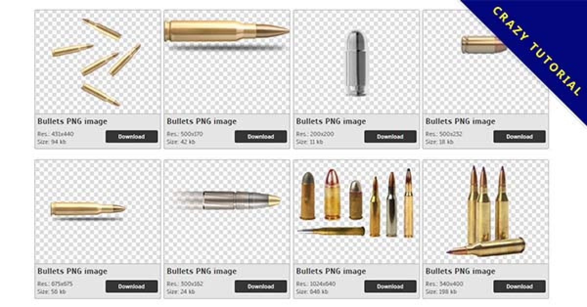 158 Bullets PNG image collection free download