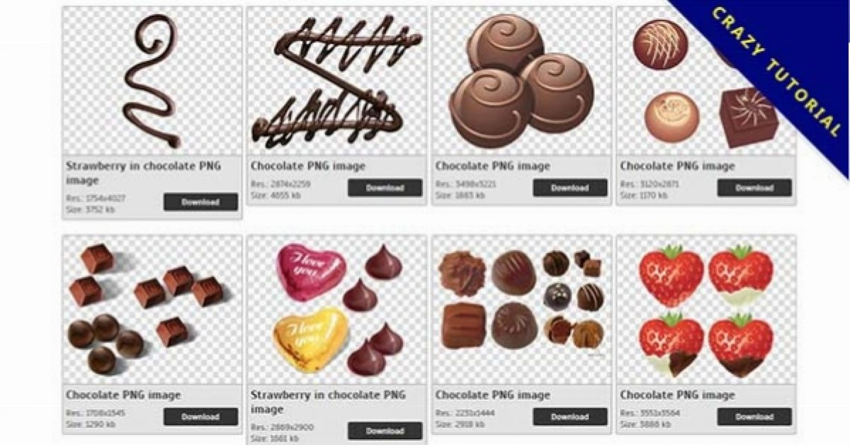 48 Chocolate PNG image collection free download