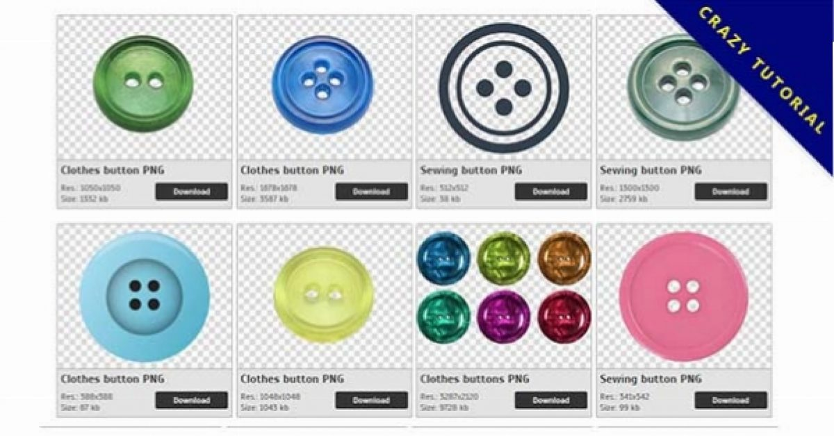 55 Clothes button PNG images are free to download