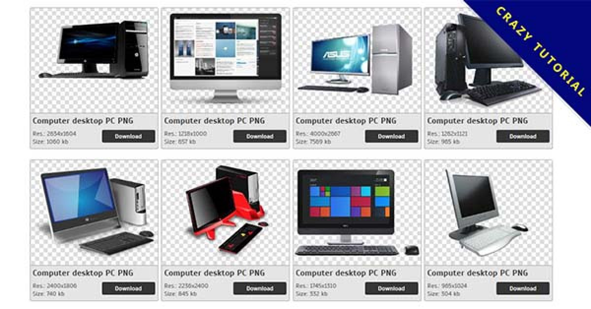 36 Computer desktop PC PNG image collection for free download