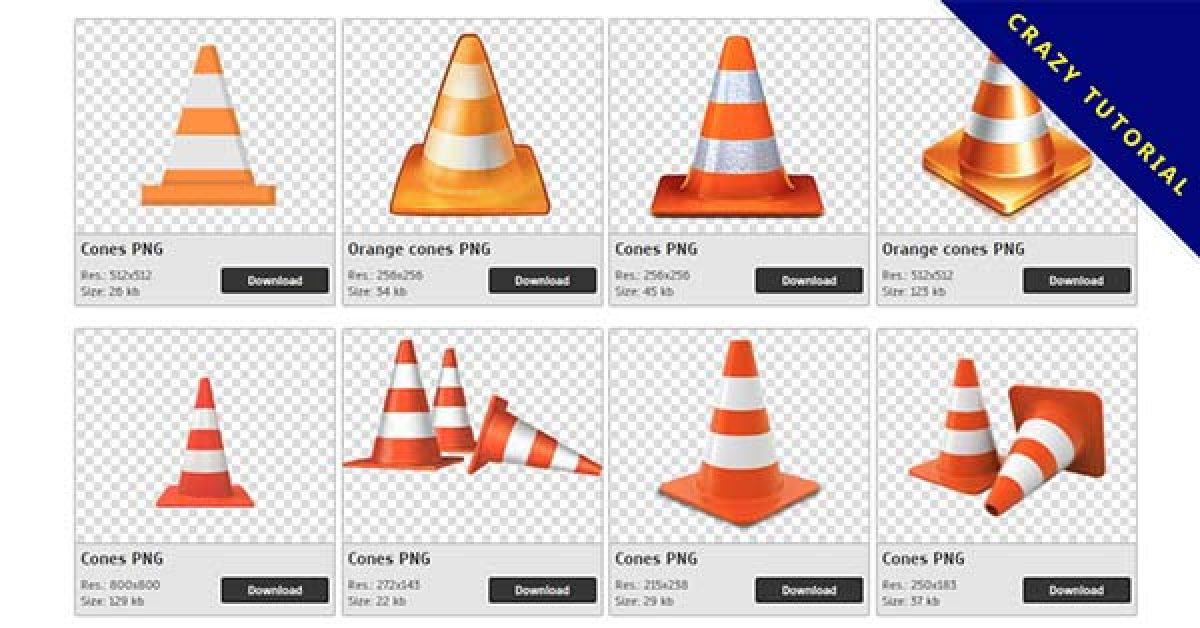 38 Cones PNG image collection is free to download