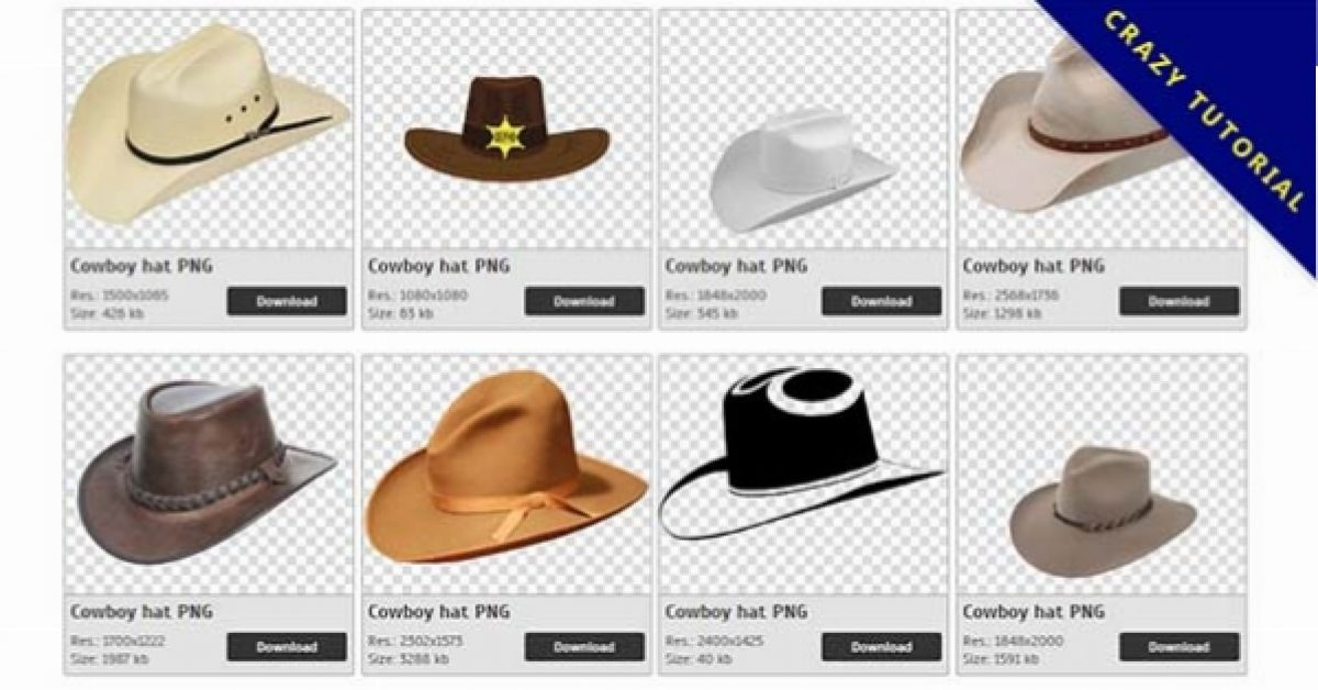 94 Cowboy hat PNG images for free download
