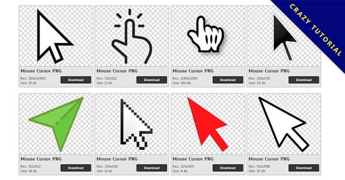 102 Cursor PNG images are available for free download
