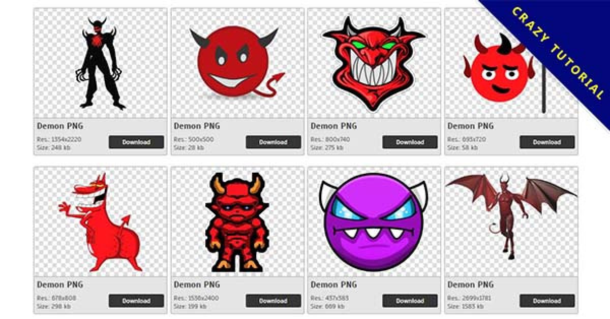 88 Demon PNG image collections free to download