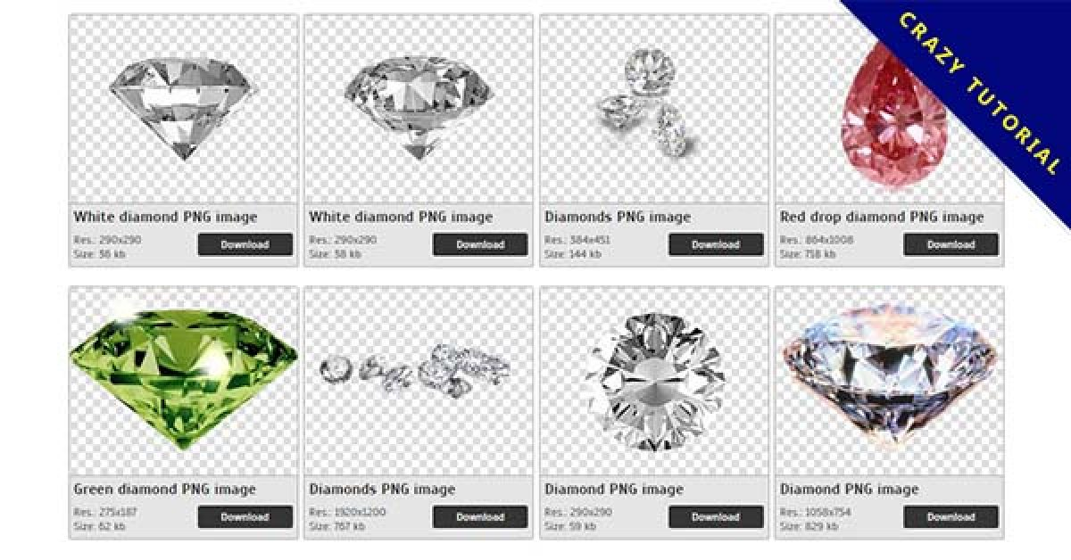 30 Diamond PNG images for free download