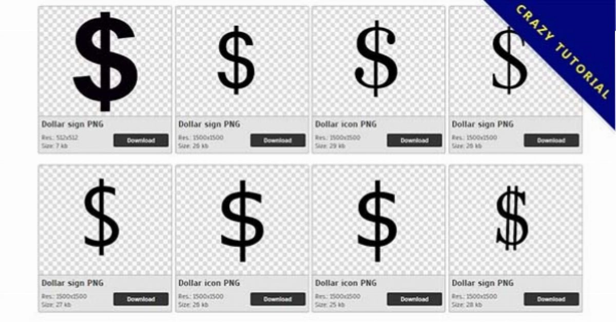 51 Dollar PNG image collection for free download