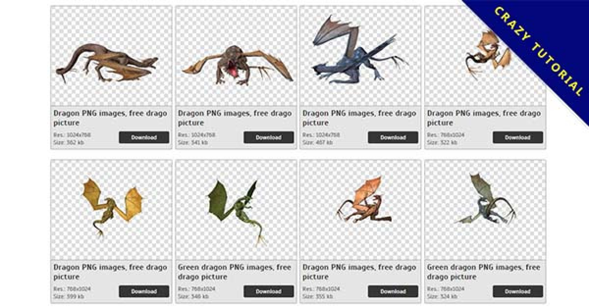 32 Dragon PNG images are free to download