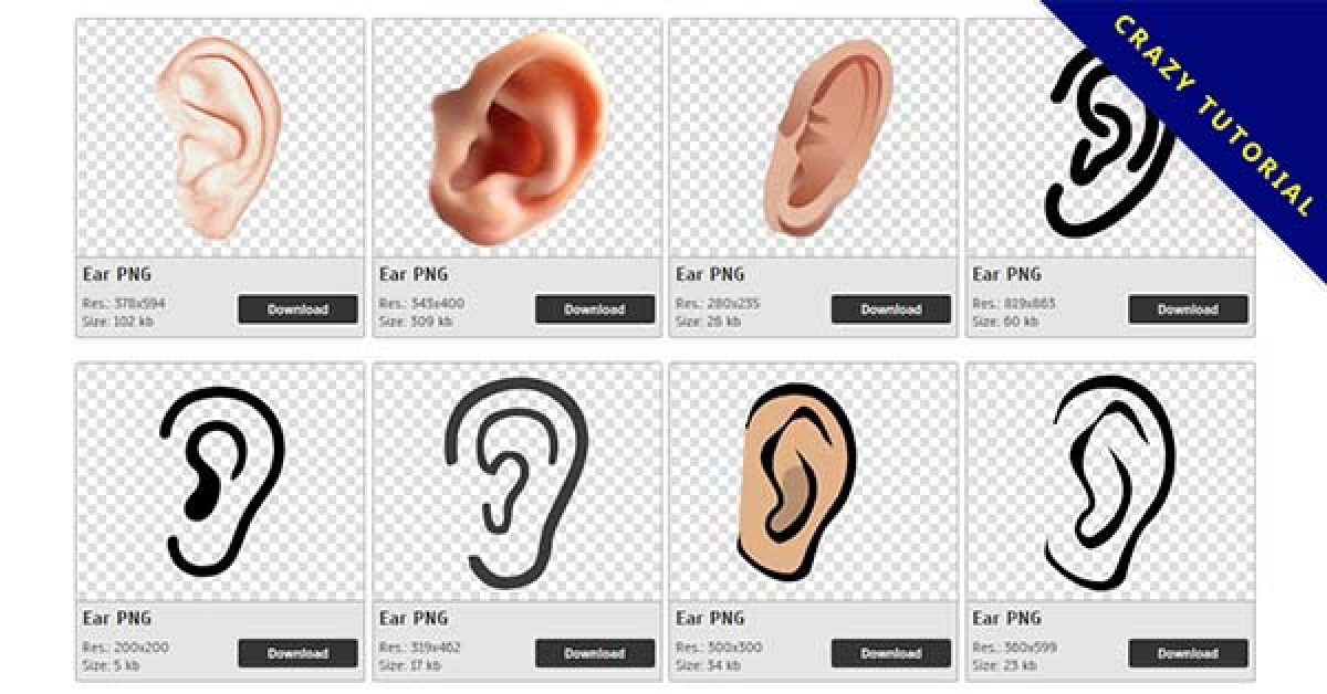 34 Ear PNG images are free to download