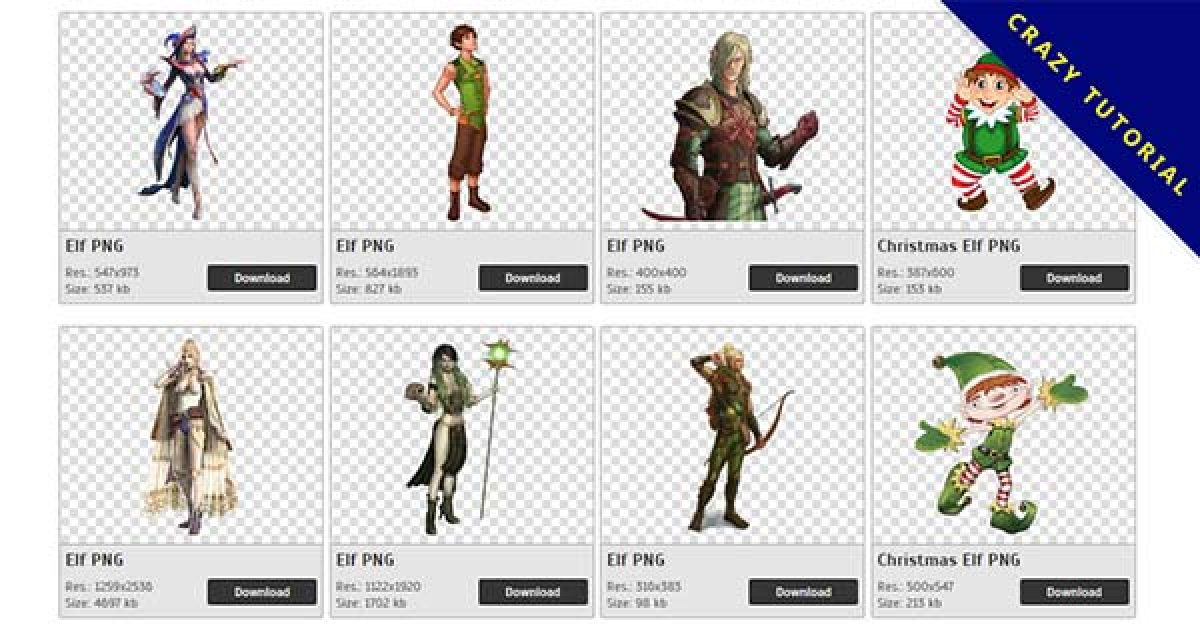 52 Elf PNG images for free download