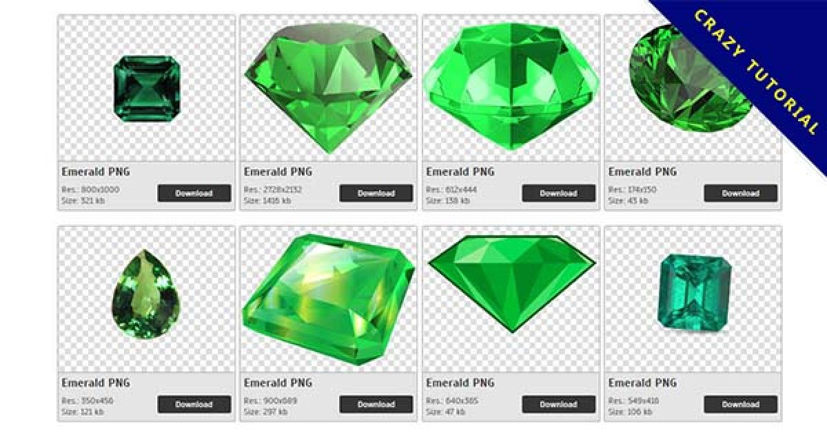 38 Emerald PNG image collection for free download