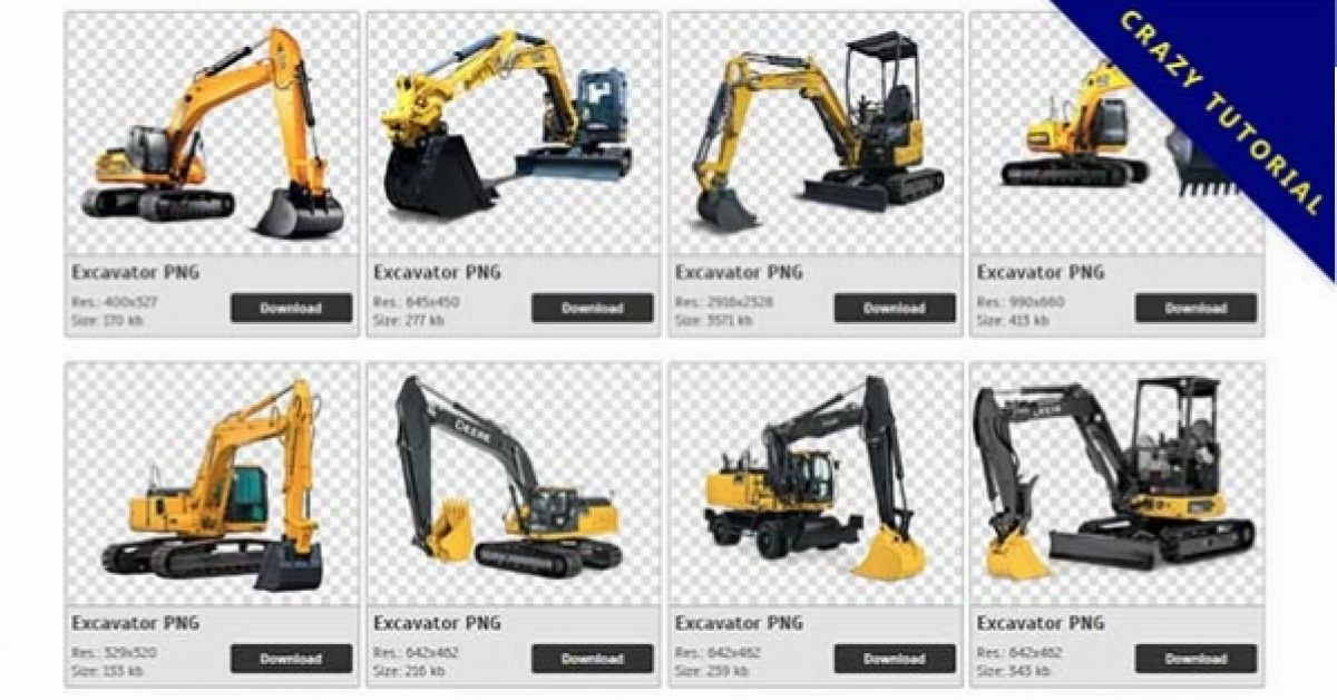 69 Excavator PNG image collections are available for free download