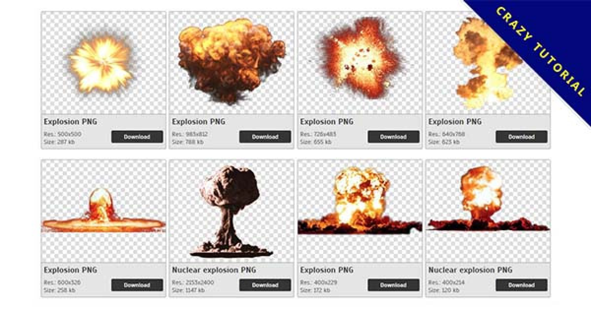 61 exploded PNG image collections for free download