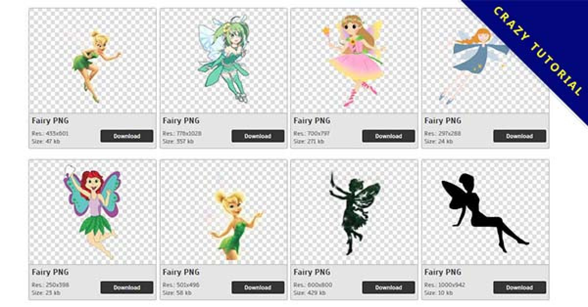 148 Fairy PNG image collections are available for free download