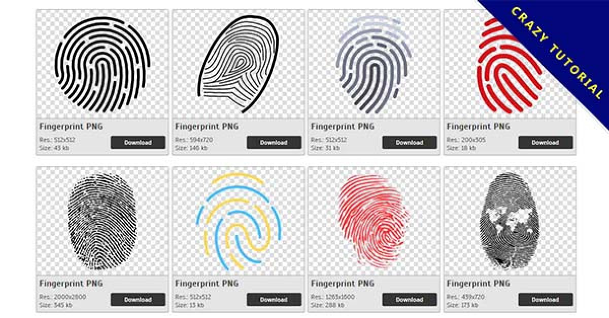 98 Fingerprint PNG image collection free download