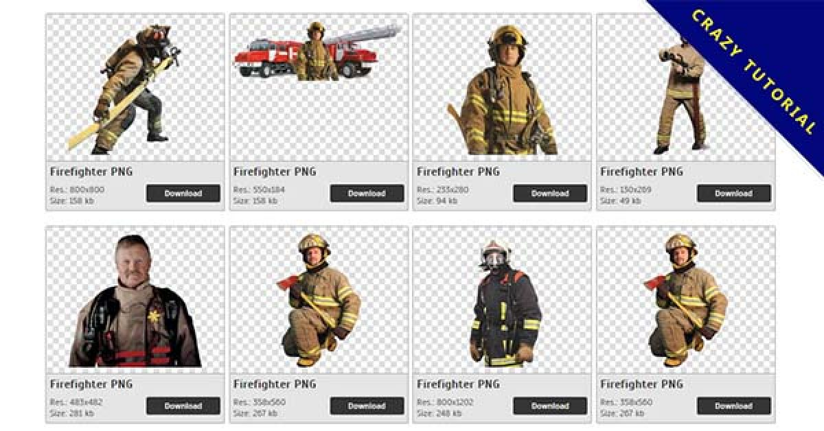28 Firefighter PNG images for free download
