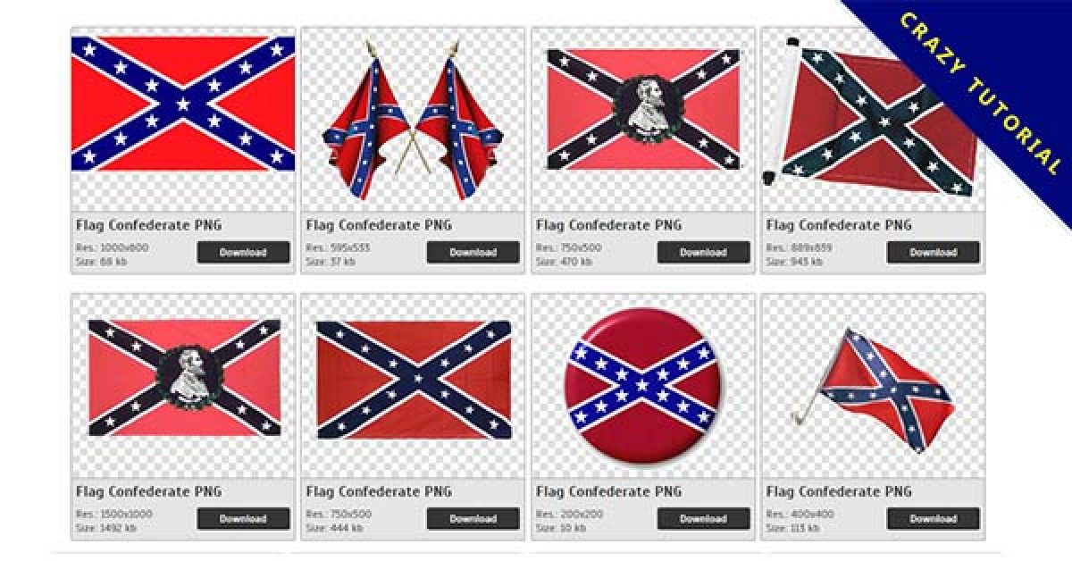 25 Flag Confederate PNG images are available for free download