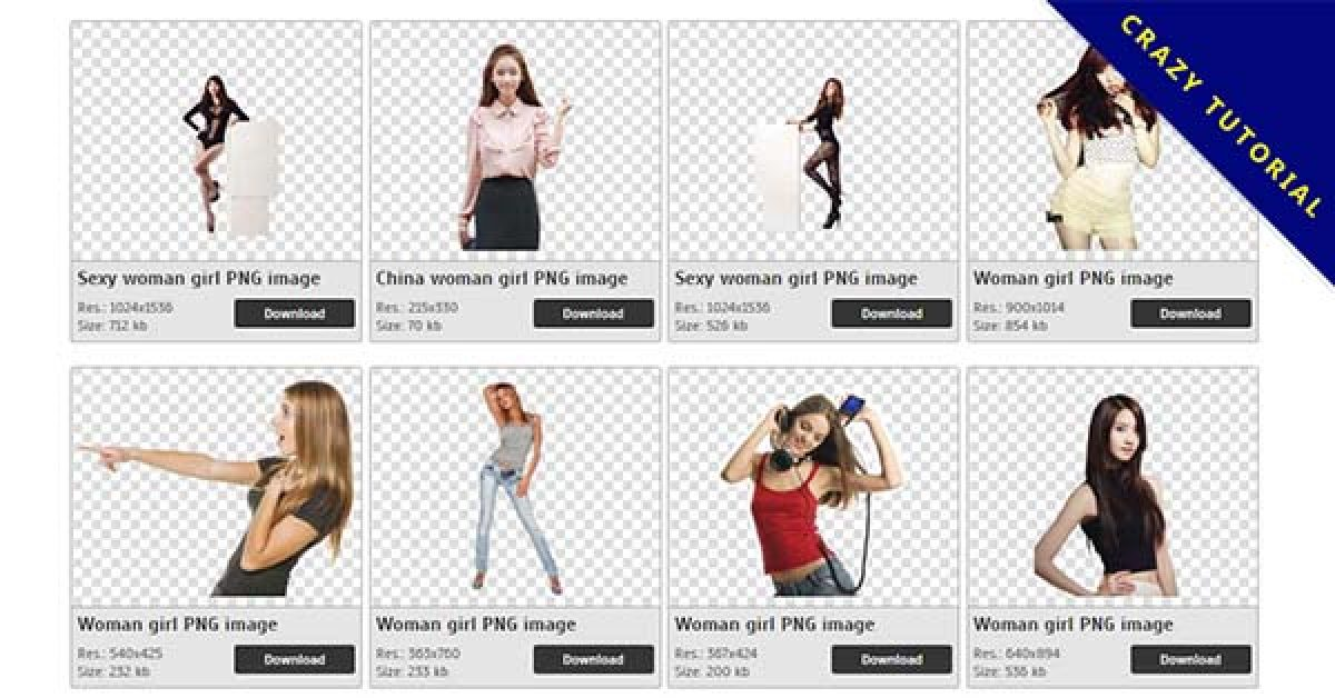 67 Girls PNG image collection for free download