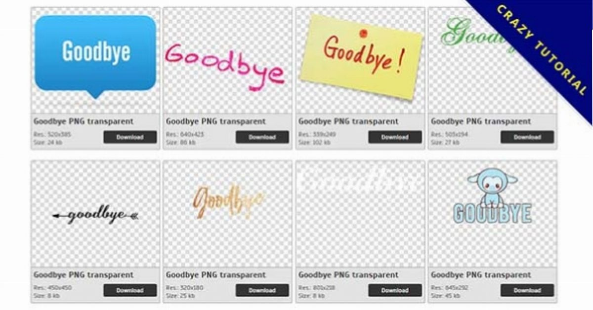26 Goodbye PNG image collections for free download