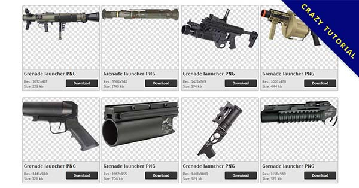 30 Grenade launcher PNG images are free to download