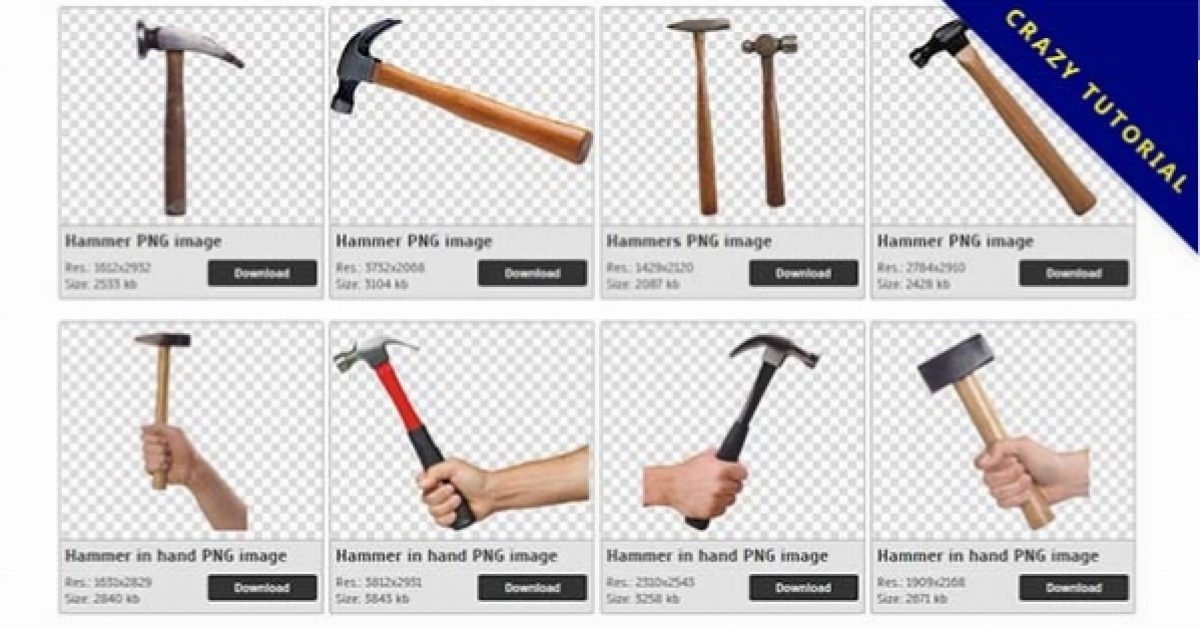 27 Hammer PNG images free to download