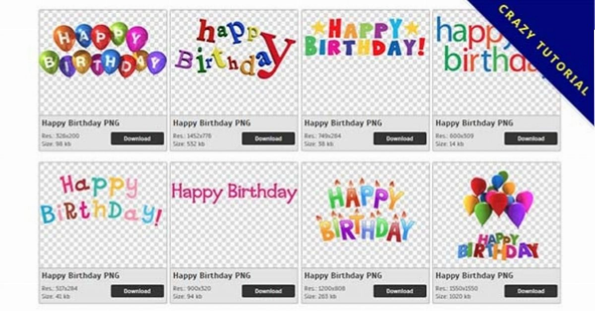 64 Happy Birthday PNG images are free to download