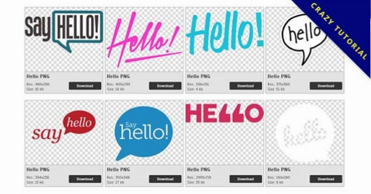 47 Hello PNG images for free download