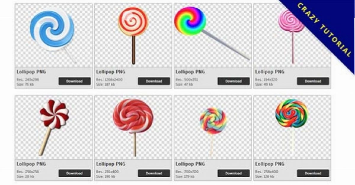 53 Lollipop PNG images are available for free download
