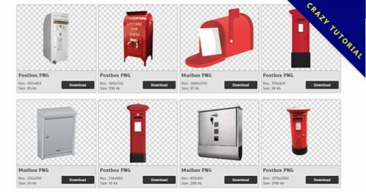 78 mailboxes, postbox PNG images are available for free download