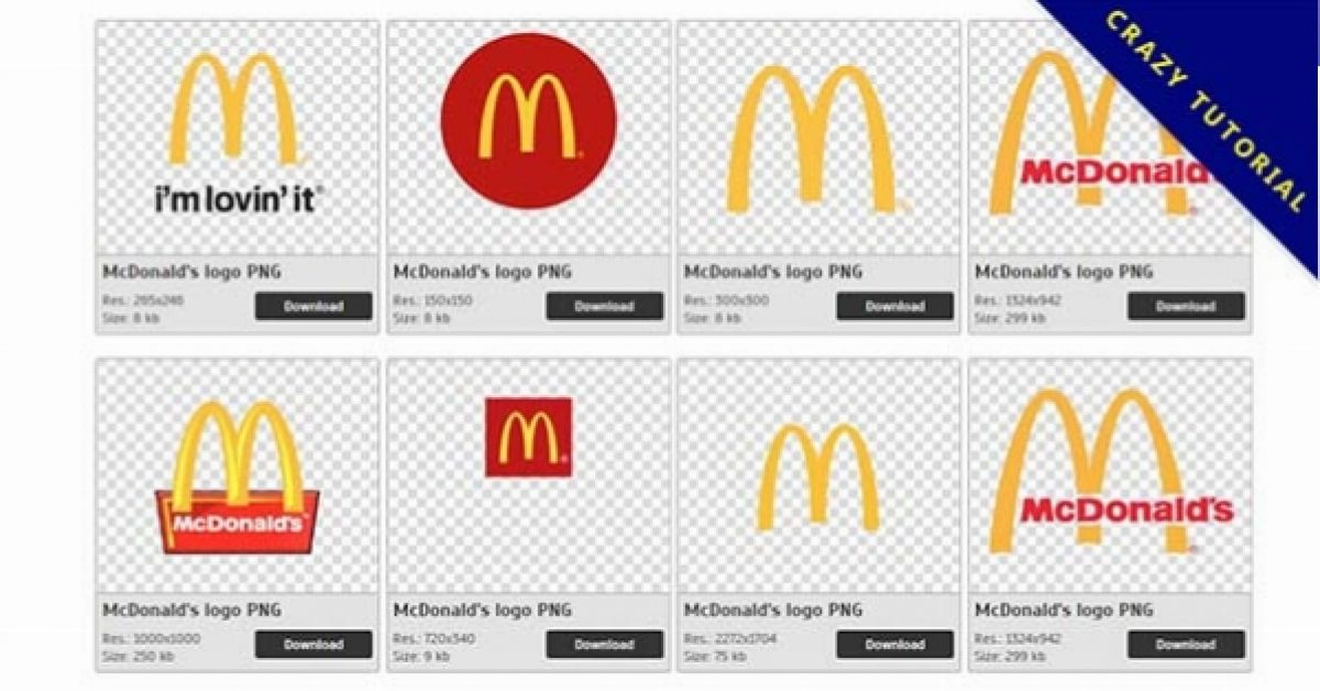 23 McDonald's logos PNG image collection free download