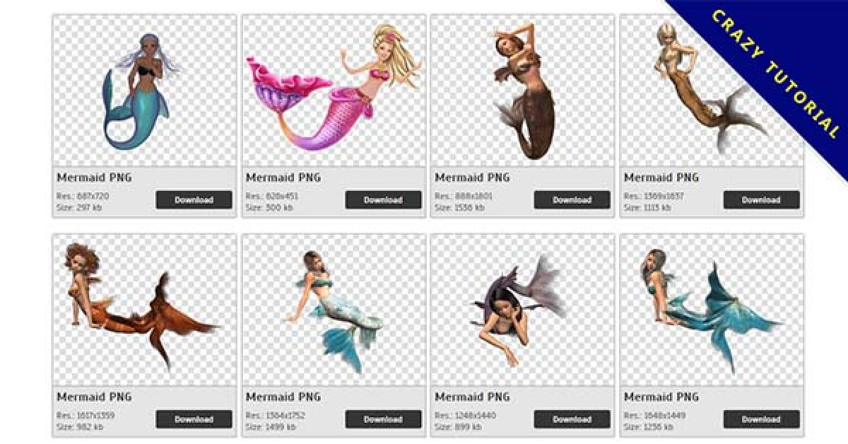 106 mermaid-png images were downloaded free of charge