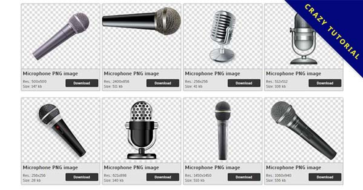 32 Microphone PNG images are free to download
