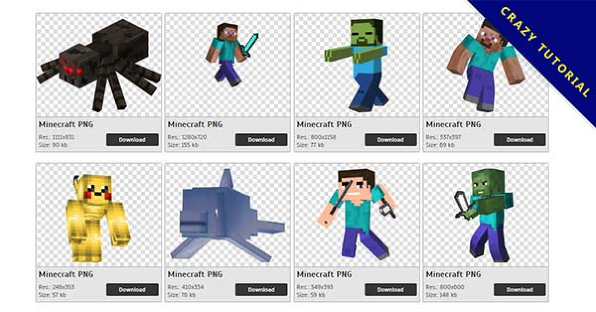 105 Minecraft PNG images are available for free download