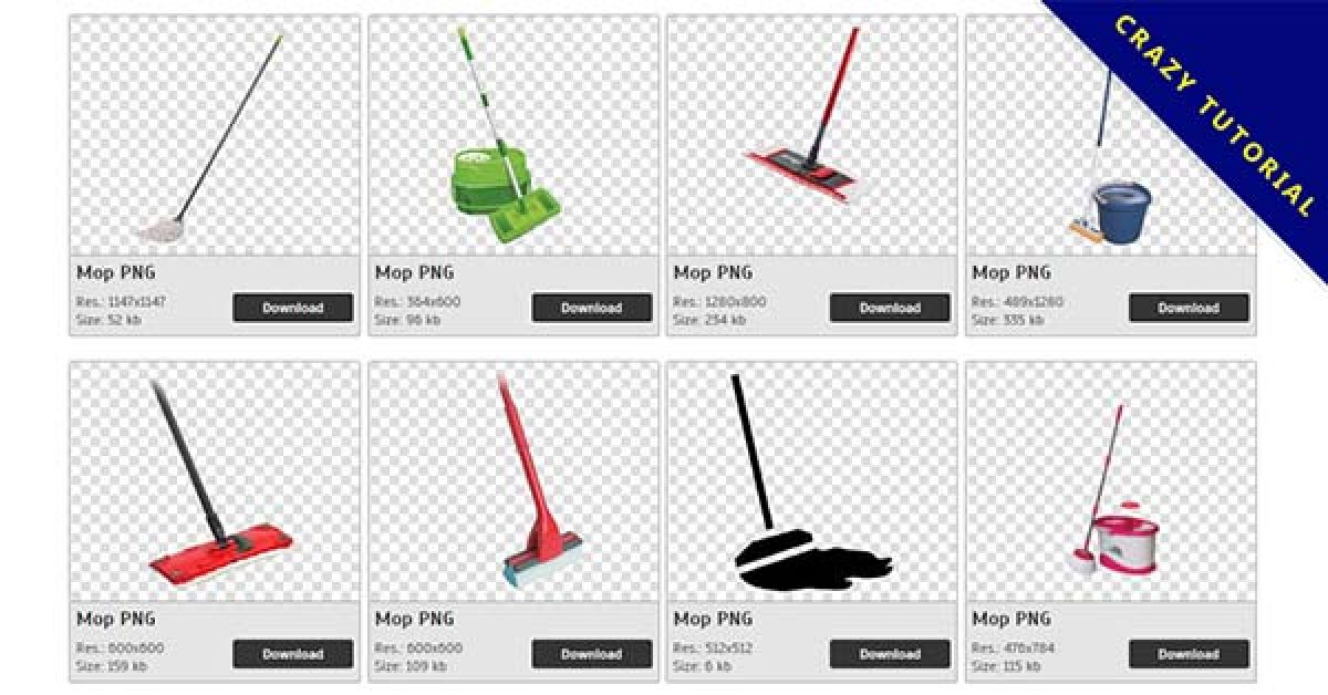 93 Mop PNG images for free download