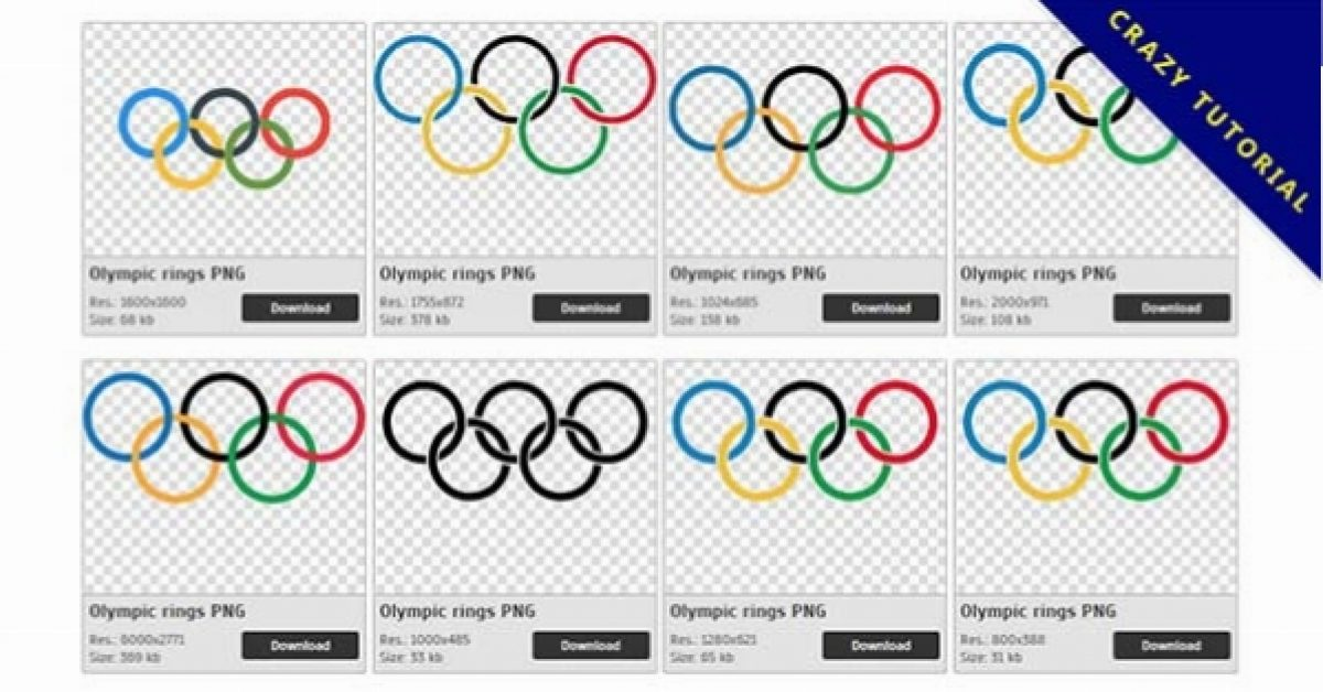 15 Olympic rings logo PNG images are free to download