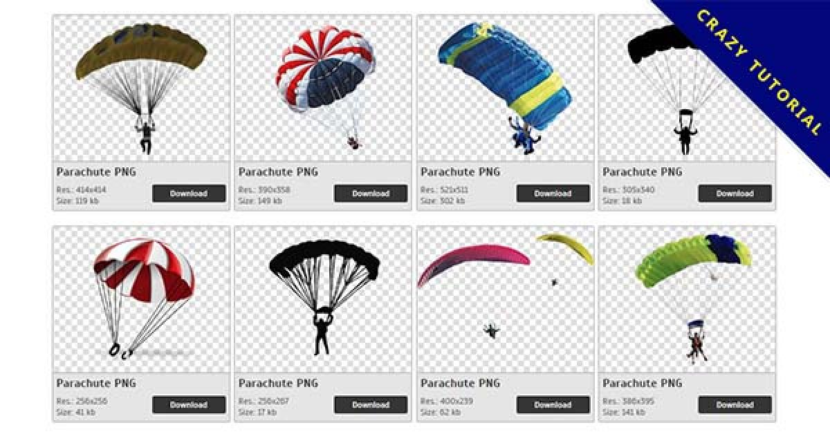 14 Parachute PNG image collection free to download