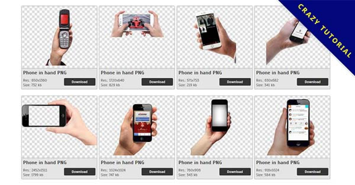 110 Phone in hand PNG image collection free download