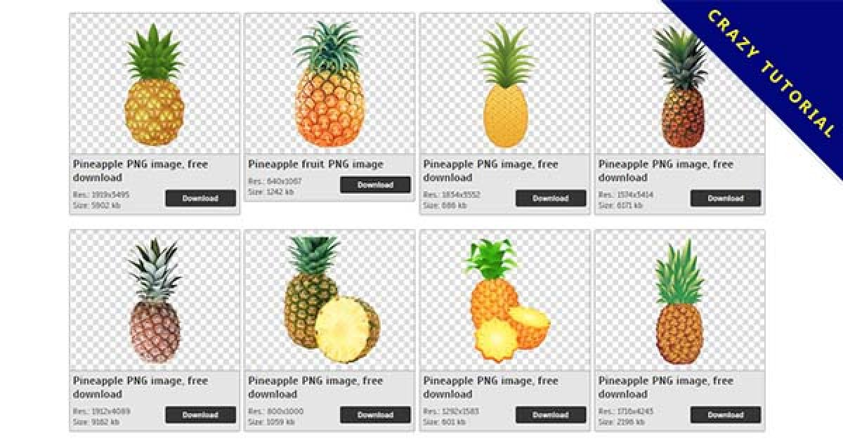 33 Pineapple PNG images collected for free download